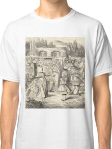 John Tenniel - Off With Her Head, From  Alice S Adventures In Wonderland. Girl portrait: cute girl, girly, female, pretty angel, child, beautiful dress, face with hairs, smile, little, kids, baby Classic T-Shirt