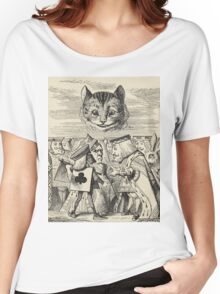 John Tenniel - The King Of Hearts Arguing With The Executioner, From  Alice S Adventures In Wonderland. Cat portrait: cute cat, kitten, kitty, cats, pets, wild life, animal, smile, little, kids, baby Women's Relaxed Fit T-Shirt