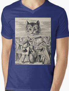 John Tenniel - The King Of Hearts Arguing With The Executioner, From  Alice S Adventures In Wonderland. Cat portrait: cute cat, kitten, kitty, cats, pets, wild life, animal, smile, little, kids, baby Mens V-Neck T-Shirt
