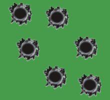 Bullet Holes One Piece - Short Sleeve