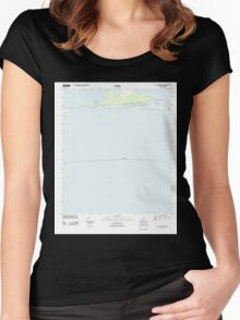 USGS TOPO Map Alabama AL Saint Andrews Bay 20110923 TM Women's Fitted Scoop T-Shirt