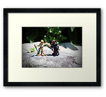Action Figures Framed Print