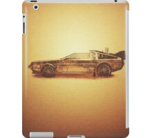 Lost in the Wild Wild West! (Golden Delorean Doubleexposure Art) iPad Case/Skin