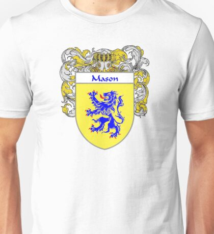 Mason Coat of Arms/Family Crest Unisex T-Shirt