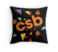The Throwback Edition (Black) Throw Pillow
