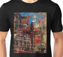 Hand painted Cross with Heart Unisex T-Shirt