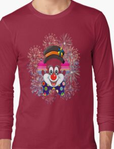 Clown.  fun and cute colorful clown, Fireworks Long Sleeve T-Shirt