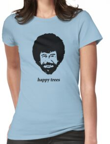 happy trees Womens Fitted T-Shirt