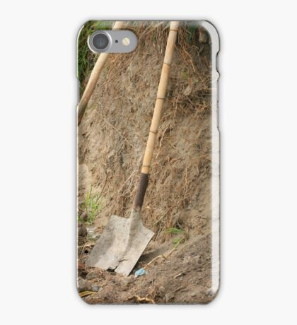Shovel With Bamboo Handle iPhone Case/Skin