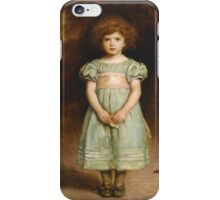 John Everett Millais - Ducklings 1889. Female child portrait: cute girl, girly, female, pretty angel, child, beautiful dress, face with hairs, smile, little, kids, baby iPhone Case/Skin