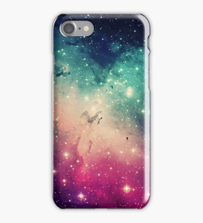 Pink Turquoise Galaxy iPhone Case/Skin