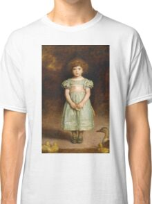 John Everett Millais - Ducklings 1889. Female child portrait: cute girl, girly, female, pretty angel, child, beautiful dress, face with hairs, smile, little, kids, baby Classic T-Shirt