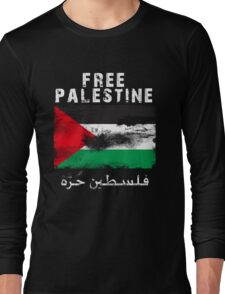 Vintage Free Palestine T shirts & Gifts Long Sleeve T-Shirt