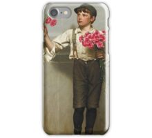 John George Brown - Three For Five 1890. Child portrait: cute baby, kid, children, pretty angel, child, kids, lovely family, boys and girls, boy and girl, mom mum mammy mam, childhood iPhone Case/Skin
