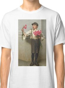 John George Brown - Three For Five 1890. Child portrait: cute baby, kid, children, pretty angel, child, kids, lovely family, boys and girls, boy and girl, mom mum mammy mam, childhood Classic T-Shirt