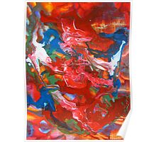 Abstract Contemporary Fine Art Colorful Poster