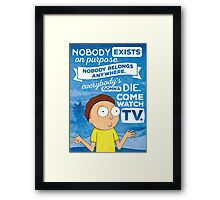 Rick and Morty Come Watch TV Framed Print