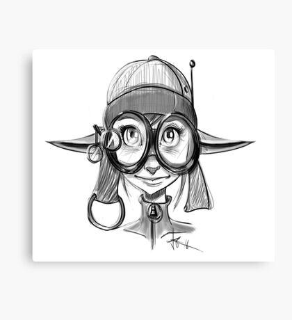 Steampunk Girl Elf Variant Canvas Print