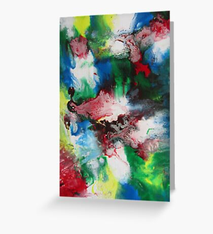 Abstract Contemporary Fine Art Colorful Greeting Card