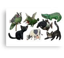 Cows, Crocs, Cats, Chimeras... Canvas Print
