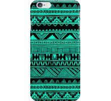 Black Mint Turquoise Cute Girly Urban Tribal Aztec Andes Abstract Geometric Pattern iPhone Case/Skin