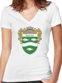 McCabe Coat of Arms/Family Crest Women's Fitted V-Neck T-Shirt