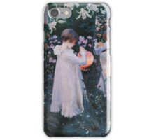 John Singer Sargent - Carnation, Lily, Lily, Rose. Girl portrait: cute girl, girly, female, pretty angel, child, beautiful dress, face with hairs, smile, little, kids, baby iPhone Case/Skin