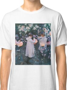 John Singer Sargent - Carnation, Lily, Lily, Rose. Girl portrait: cute girl, girly, female, pretty angel, child, beautiful dress, face with hairs, smile, little, kids, baby Classic T-Shirt