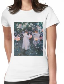 John Singer Sargent - Carnation, Lily, Lily, Rose. Girl portrait: cute girl, girly, female, pretty angel, child, beautiful dress, face with hairs, smile, little, kids, baby Womens Fitted T-Shirt