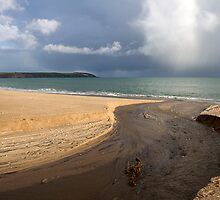 beach scene in cornwall by caughtinmotion