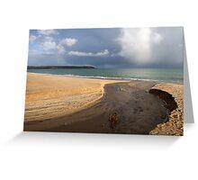 beach scene in cornwall Greeting Card