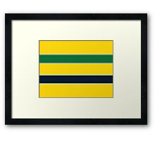 Yellow Helmet design  Framed Print