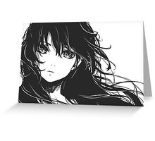 Anime Sketch Head Greeting Card