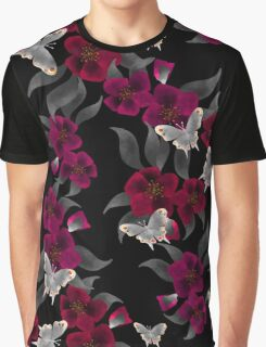 Seamless floral pattern background flowers ornament wallpaper textile Illustration Graphic T-Shirt