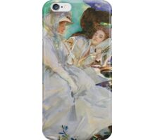 John Singer Sargent - Reading. Woman portrait: sensual woman, girly art, female style, pretty women, femine, beautiful dress, cute, creativity, love, sexy lady, erotic pose iPhone Case/Skin