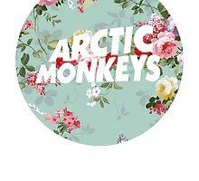 Arctic Monkeys - Blue Floral by Ireffutable