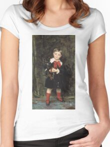 John Singer Sargent - Robert 1879. Child portrait: cute baby, kid, children, pretty angel, child, kids, lovely family, boys and girls, boy and girl, mom mum mammy mam, childhood Women's Fitted Scoop T-Shirt