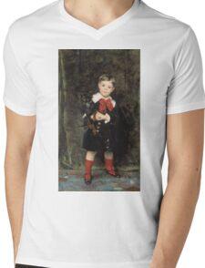 John Singer Sargent - Robert 1879. Child portrait: cute baby, kid, children, pretty angel, child, kids, lovely family, boys and girls, boy and girl, mom mum mammy mam, childhood Mens V-Neck T-Shirt