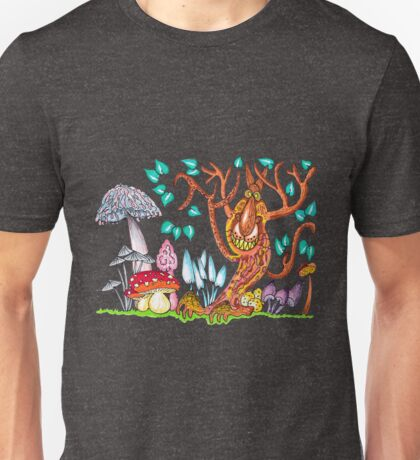 Freaky fungus forest Unisex T-Shirt