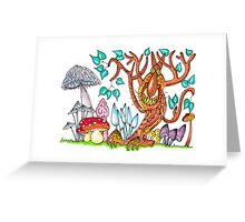 Freaky fungus forest Greeting Card