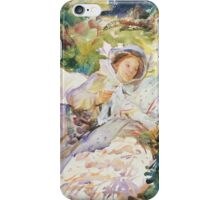 John Singer Sargent - The Tease 1911. Mother with kid portrait: cute girl, mother and daughter, female, pretty angel, child, beautiful dress, lovely family, mothers day, memory, mom mammy mam, baby iPhone Case/Skin