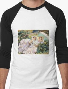John Singer Sargent - The Tease 1911. Mother with kid portrait: cute girl, mother and daughter, female, pretty angel, child, beautiful dress, lovely family, mothers day, memory, mom mammy mam, baby Men's Baseball ¾ T-Shirt
