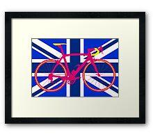 Bike Flag United Kingdom (Blue) (Big - Highlight) Framed Print