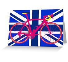 Bike Flag United Kingdom (Blue) (Big - Highlight) Greeting Card