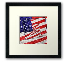 Patriotic American Flag Abstract Framed Print