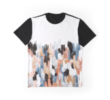 Copper Brush Strokes Graphic T-Shirt