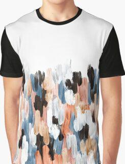 Copper Brush Strokes Graphic T-Shirt