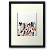 Copper Brush Strokes Framed Print
