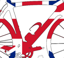 Bike Flag United Kingdom (Big) Sticker
