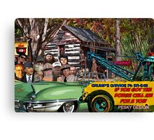 Grump's Garage II Canvas Print
